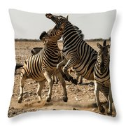 Sour Stripes Throw Pillow
