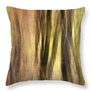Sourwoods In Autumn Abstract Throw Pillow