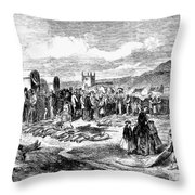 South Africa: Ivory Trade Throw Pillow