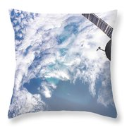 South Atlantic Plankton Bloom Throw Pillow