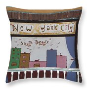 South Bronx - New York City Throw Pillow