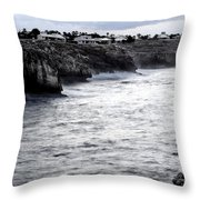Menorca South Coast In A Stormy Mediterranean Day Throw Pillow