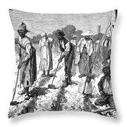 South: Cotton Planting Throw Pillow by Granger
