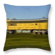 South Dakota Central Train Throw Pillow