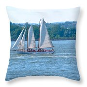 South Ferry Water Ride12 Throw Pillow