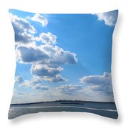 South Ferry Water Ride14 Throw Pillow