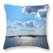 South Ferry Water Ride15 Throw Pillow