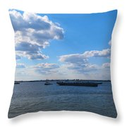 South Ferry Water Ride17 Throw Pillow