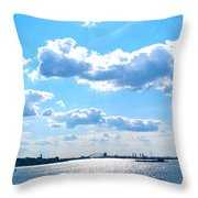 South Ferry Water Ride19 Throw Pillow