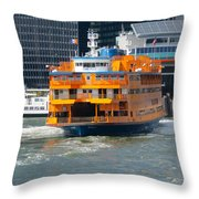 South Ferry Water Ride2 Throw Pillow