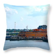 South Ferry Water Ride26 Throw Pillow
