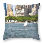 South Ferry Water Ride4 Throw Pillow