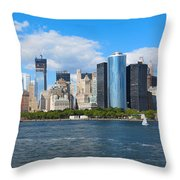 South Ferry Water Ride5 Throw Pillow
