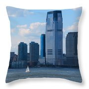 South Ferry Water Ride7 Throw Pillow