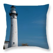 South Manitou Island Lighthouse Throw Pillow