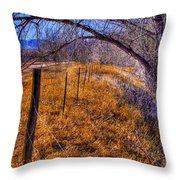 South Platte Fenceline Throw Pillow