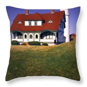 South Portland Lighthouse Throw Pillow