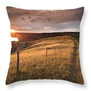 South Saskatchewan River Near Leader Throw Pillow