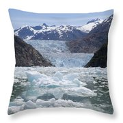 South Sawyer Glacier And Bay Full Throw Pillow