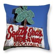 South Seas Sign Throw Pillow