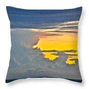 South Seas Yellow Throw Pillow