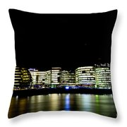 Southbank London At Night Throw Pillow
