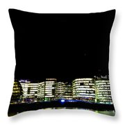 Southbank View Across The River Thames Throw Pillow