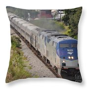 Southbound Amtrak Silver Star Throw Pillow