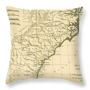 Southeast Coast Of America Throw Pillow