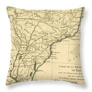 Southern Brazil Throw Pillow
