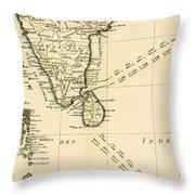 Southern India And Ceylon Throw Pillow