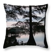 Southern Lake Throw Pillow