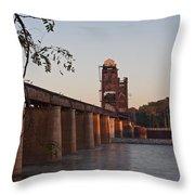 Southern Railroad Bridge Throw Pillow
