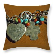 Southwest Style Jewelry With Texas Star Throw Pillow