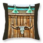 Southwestern Longhorn Skull Throw Pillow