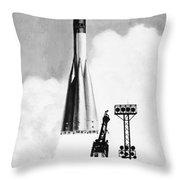 Soviet Soyuz Rocket, 1975 Throw Pillow