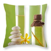 Spa Oil Bottles Throw Pillow