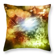Space Background Throw Pillow