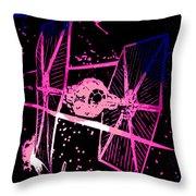 Space Battle Throw Pillow