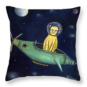 Space Bob Throw Pillow