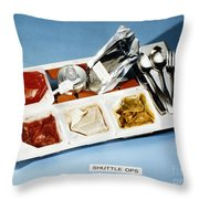 Space: Food Tray, 1982 Throw Pillow