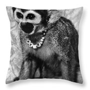 Space Monkey: Baker, 1979 Throw Pillow