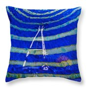 Space Needle Reflected Throw Pillow