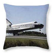 Space Shuttle Atlantis Touches Throw Pillow
