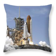 Space Shuttle Atlantis Twin Solid Throw Pillow