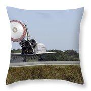 Space Shuttle Atlantis Unfurls Its Drag Throw Pillow