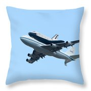 Space Shuttle Enterprise Arrives In New York City Throw Pillow