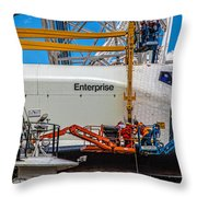 Space Shuttle Enterprise Throw Pillow by Chris Lord
