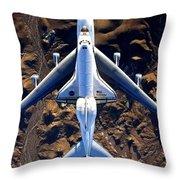 Space Shuttle Piggyback Throw Pillow