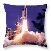 Space Shuttle Throw Pillow